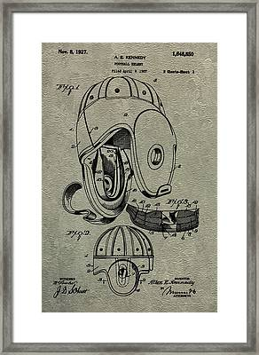 1927 Football Helmet Patent Framed Print