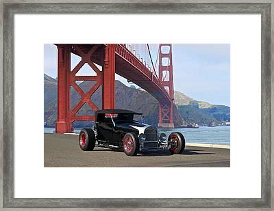 1927 Ford Model T 'lakester' Framed Print by Dave Koontz
