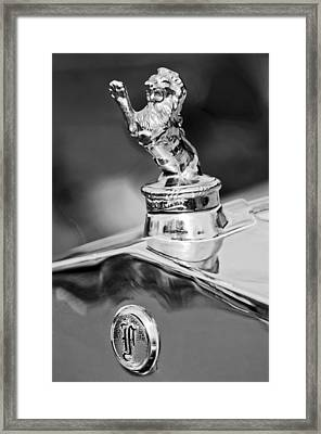 1927 Franklin Sedan Hood Ornament 2 Framed Print by Jill Reger