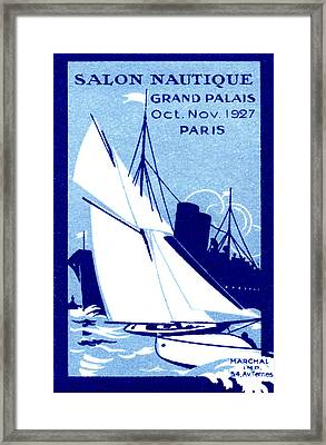 1927 Paris Boat Show Framed Print by Historic Image