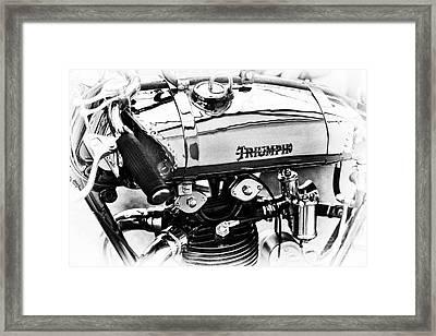 1927 Triumph Tt Racer Monochrome Framed Print