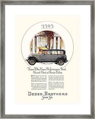1928 - Dodge Brothers Automobile Advertisement - Color Framed Print