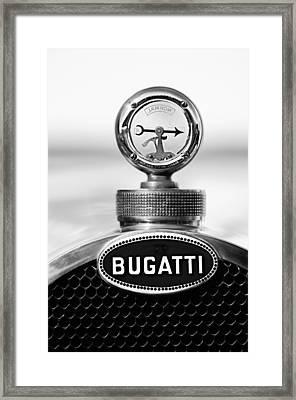 1928 Bugatti Type 44 Cabriolet Hood Ornament - Emblem Framed Print