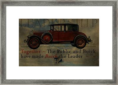 1928 Buick Advertisement Framed Print by Dan Sproul