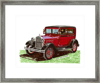 1928 Ford Model A Two Door Framed Print by Jack Pumphrey