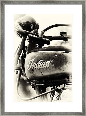 1928 Indian 101 Scout Motorcycle Framed Print