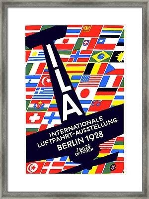 1928 International Air Show Framed Print by Historic Image