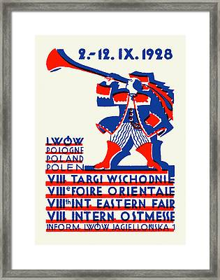 1928 Lwow Eastern International Fair Framed Print by Historic Image