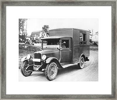 1928 Olympic Broadcast Truck Framed Print by Underwood Archives