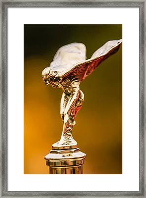 1928 Rolls-royce Phantom I Sedenca De Ville Hood Ornament Framed Print by Jill Reger