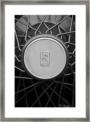 1928 Rolls-royce Spoke Wheel Framed Print by Jill Reger