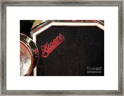 1928 Stearns Knight F-6 Roadster 5d26806 Framed Print