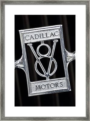 1929 Cadillac Dual-cowl Phaeton Emblem Framed Print