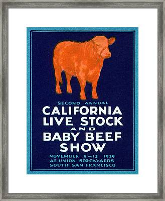 1929 California Beef Framed Print by Historic Image