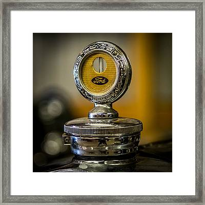 1929 Ford Hood Ornament Framed Print by Paul Freidlund