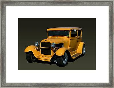 1929 Ford Model A Sedan Hot Rod Framed Print by Tim McCullough