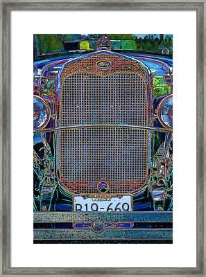 Framed Print featuring the digital art 1929 Ford by Richard Farrington