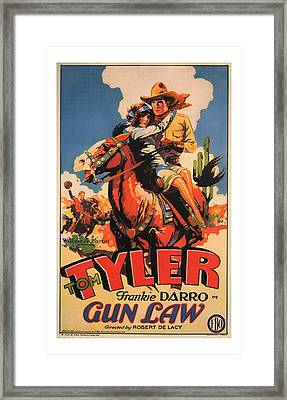 1929 Gun Law Vintage Movie Art Framed Print by Presented By American Classic Art