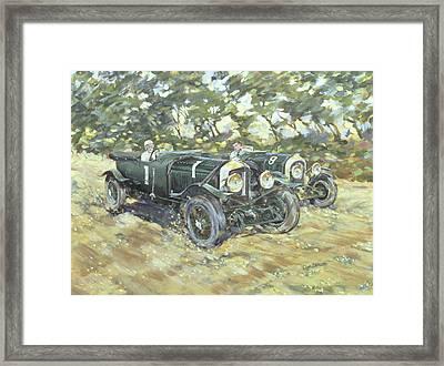 1929 Le Mans Winning Bentleys Framed Print