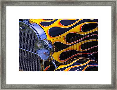 1929 Model A 2 Door Sedan With Flames Framed Print by Garry Gay