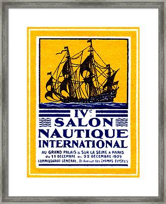 1929 Paris Boat Show Framed Print by Historic Image