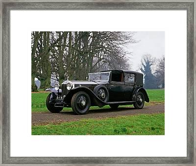 1929 Rolls Royce Phantom II Sedanca De Framed Print