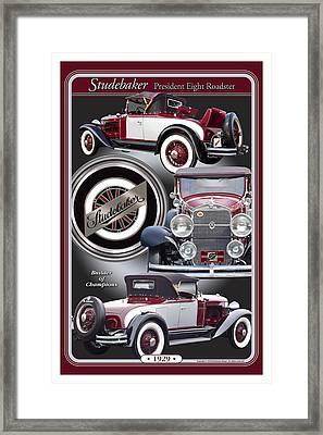 1929 Studebaker President Framed Print by Ed Dooley