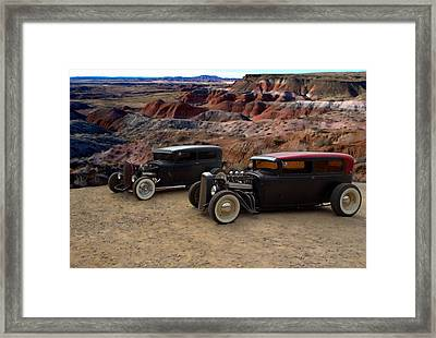 1930 And 1931 Ford Sedan Rat Rods Framed Print