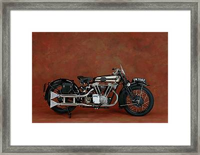 1930 Brough Superior 680cc V-twin Framed Print