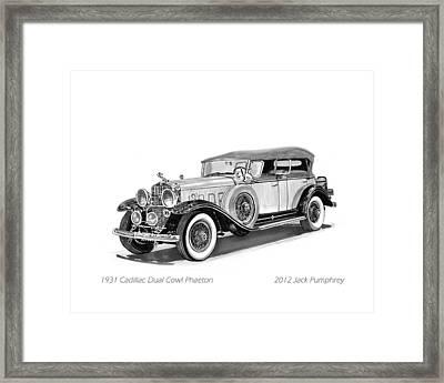 1931 Cadillac Phaeton Framed Print by Jack Pumphrey