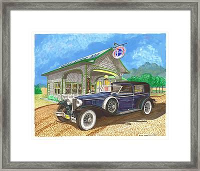 1930 Cord L Towncar Framed Print by Jack Pumphrey
