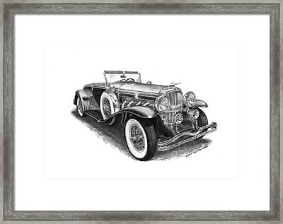 1930 Duesenberg Model J Framed Print by Jack Pumphrey
