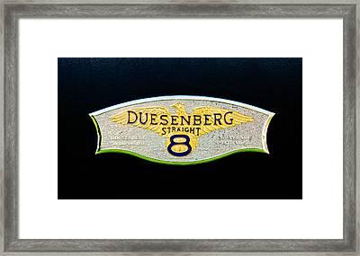 1930 Duesenberg Model J Lwb Dual Cowl Phaeton Emblem Framed Print