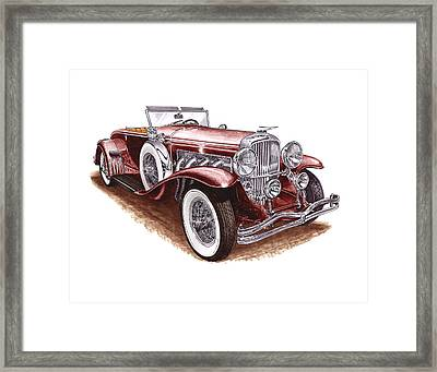 Dusenberg Model J Framed Print