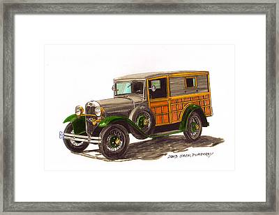 1930 Ford Model A Woody Framed Print