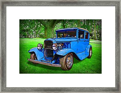 Framed Print featuring the digital art 1930 Ford by Richard Farrington
