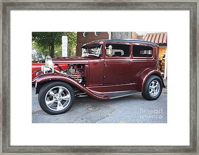 1930 Ford Two Door Sedan Side View Framed Print
