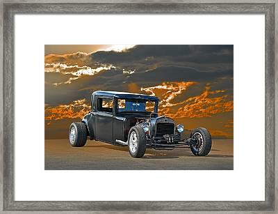 1930 Hudson Hod Rod I Framed Print by Dave Koontz