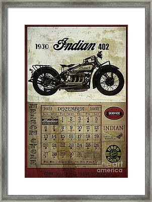 1930 Indian 402 Framed Print by Cinema Photography