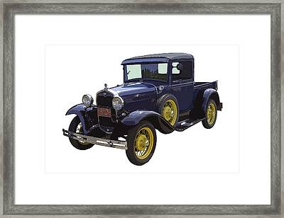 1930 - Model A Ford - Pickup Truck Framed Print