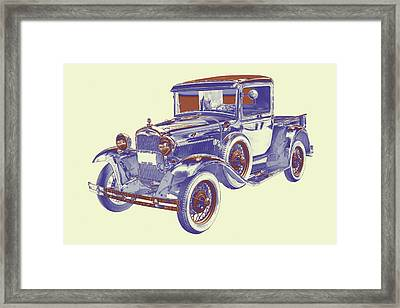 1930 Model A Ford Pickup Truck Pop Art Framed Print by Keith Webber Jr