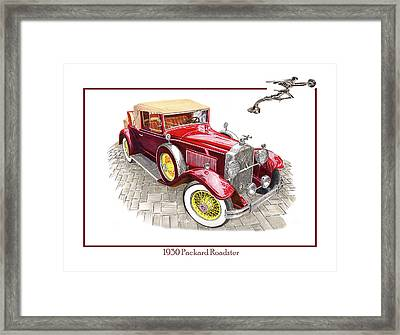 1930 Packard 733 Convertible Roadster Framed Print