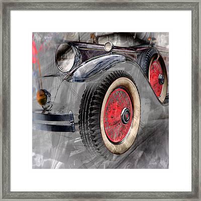 Framed Print featuring the digital art 1930 Packard by Richard Farrington