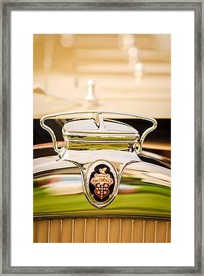 1930 Packard Speedster Runabout Hood Emblem -2520c Framed Print