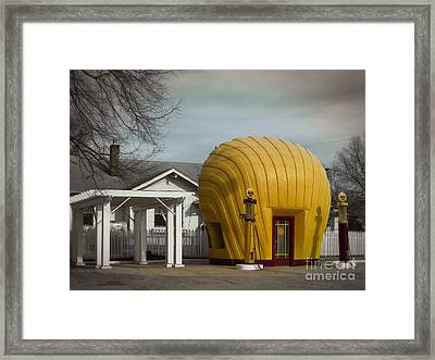 1930 Shell Station Framed Print