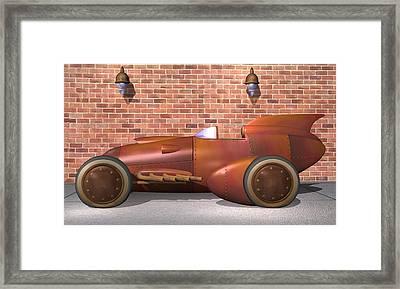 1930 Streamliner Framed Print by Stuart Swartz