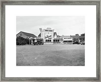 1930s 1937 Roadside Eatery The Sunny Framed Print