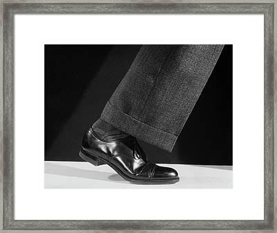 1930s 1940s 1950s Walking Mans Single Framed Print