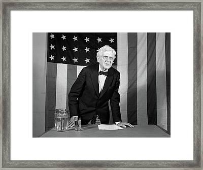 1930s 1940s Elderly Man Standing Framed Print