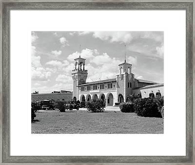 1930s 1940s La Playa Beach Bathhouse Framed Print